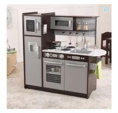 KidKraft-Uptown-Kids-Wooden-Play-Pretend-Food-Kitchen-Toy-Set-Espresso