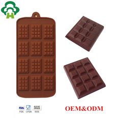 silicone rectangle chocolate maker tray mold custom made waffle shape chocolate chip mold custom chocolate molds image