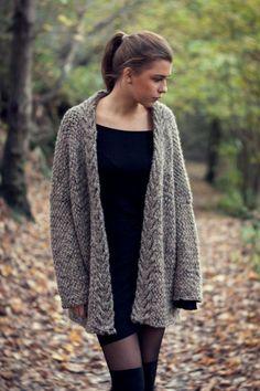 KNITTING PATTERN Dreamy Weave Cardigan One Size by silverishmoon