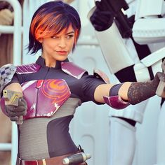 I finally found a cute female Star Wars cosplay that I would love to do (w/o the guns) ! Sabrine Wren from the new Star Wars Rebels series! Star Wars Costumes, Cosplay Costumes, Cosplay Ideas, Costume Ideas, Amazing Cosplay, Best Cosplay, Mandalorian Cosplay, Star Wars Outfits, Star Wars Girls