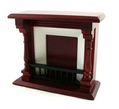 Dollshouse Miniature 1:12 Scale Wooden Furniture Small Mahogany Fireplace