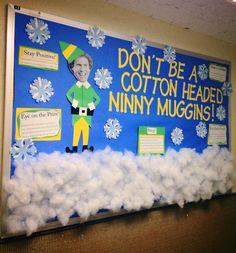 winter bulletin board - finals/closing