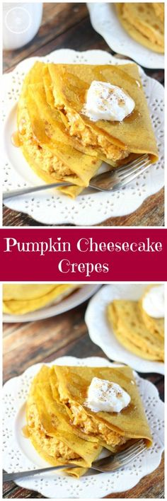 PUMPKIN CREPES WITH PUMPKIN MASCARPONE FILLING!