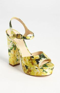 Gorgeous kate spade new york floral sandal.