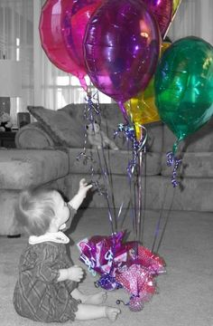 Happy Birthday Balloons For Pamila!  ~ From Your Friends ~ Rick and Tari #Color_Splash