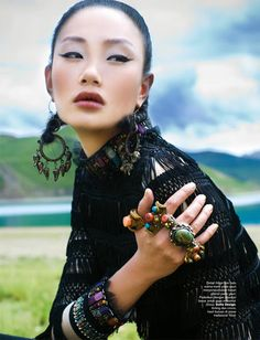 "Life in pics: Editorials: ""7 days in Tibet"" - Zhang Fan by Nicoline Patricia Malina"