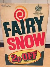 Vintage 1970s Fairy Snow washing powder - my Mum used this, and would give me some of the frothy bubbles to use as snow on my doll's house...