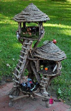 Stump/bark-type house 5 #miniaturegardens