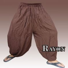 Pantalon sarouel pantalon bouffant rayonne - braun