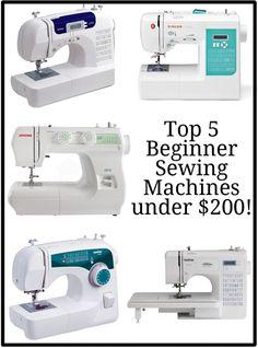 Top 5 Beginner Sewing Machines. #PeekabooPages