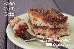 Paleo Coffee Cake  #TheUnrefinedKitchen #TheNourishingGourmet
