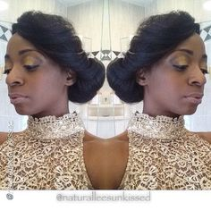 """Loves it by @naturalleesunkissed """"Simple side-swept natural updo. #Hair2mesmerize #naturalhair #healthyhair #teamnatural #naturalhairjourney #naturalhairstyles #blackhairstyles #transitioning"""