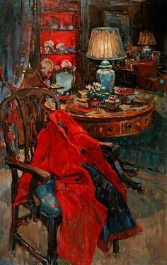 My Red Coat (oil on canvas)