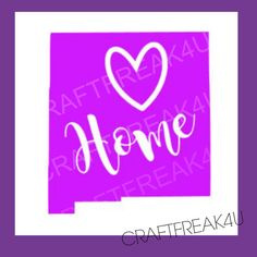 NEW Mexico Car Window State With Heart by CRAFTFREAK4U on Etsy
