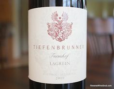 Tiefenbrunner Turmhof Lagrein 2010 - Wines From Alto Adige #10. Juicy and Smooth - Another Lovely Lagrein!  http://www.reversewinesnob.com/2013/01/tiefenbrunner-turmhof-lagrein-2010.html