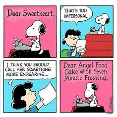 Snoopy writes a love letter