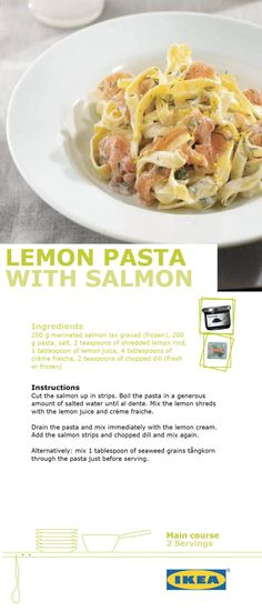 Delicious lemon and salmon pasta. So simple to make and takes so little time.