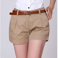 Summer Shorts Plus Size S-XXL Saias Femininas Summer Women Cotton Short Feminino Casual Elegant Slim OL Shorts Women Work Wear Summer Shorts, Summer Outfits, A Line Shorts, Color Khaki, Color Black, Korea Fashion, Fashion Pants, Casual Shorts, Khaki Shorts