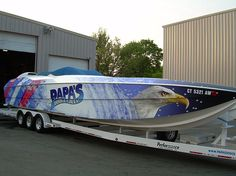 Papas Boat Graphic Wrap Done By Sign Pro Inc.