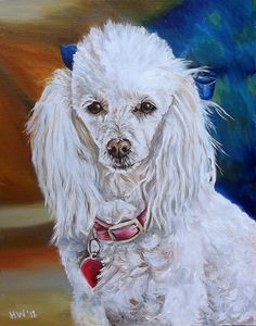 custom Pet Portrait dog painting original oil by SouthPawPaintings