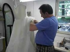 Wedding Gown Alterations - Adding a Bustle to a Wedding Dress - YouTube