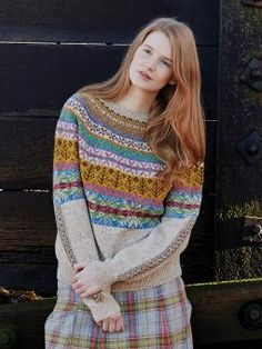 Lovage - Knit this stunning ladies fairisle sweater from Windswept. A design by Marie Wallin using the lovely Yorkshire yarn Rowan Fine Tweed (wool),...