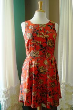 Mink Pink: Rachel Floral Dress, Orange