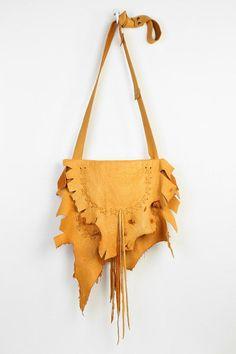 American Vintage Deerskin Fringe Hobo Bag #urbanoutfitters