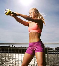 Jump-start your weight-loss results in less than 20 minutes with a kettlebell workout. Burn major calories at home with this quick & effective workout.