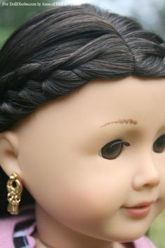 Instructions for a French Braid Headband for Dolls