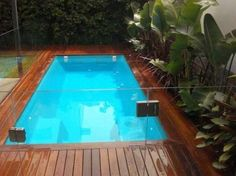 well as luxury items such as tiling water features water slides and outdoor furniture And once the pool is up and running youll need to shell out for a pool cover cleaner. Small Swimming Pools, Small Backyard Pools, Backyard Pool Landscaping, Small Pools, Swimming Pool Designs, Landscaping Ideas, Small Pool Ideas, Pool Spa, My Pool