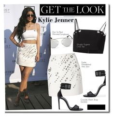 """""""Get The Look: Kylie Jenner"""" by hamaly ❤ liked on Polyvore featuring Christian Dior, GetTheLook, StreetStyle, skirt, celebstyle and KylieJenner"""