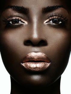 metallic bronze lips - Click image to find more Design Pinterest pins