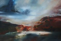 "SOLD ""Faded Memory, Python Pool"" oil on linen, 80 x 120 cm Joanne Duffy 2014"