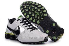 Men s Nike Shox OZ Shoes White Black Silver Green Authentic a7bd38731