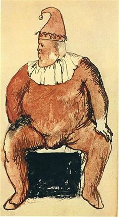 Seated Fat Clown 1905 Pablo Picasso