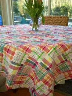 Madras Tablecloth in Tucker's Point  perfect for your beach picnic