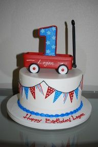 red wagon birthday cake - Google Search