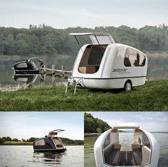 sealander amphibious camper large 650x649 Sealander | Amphibious Camper #CampingCar #Amphibie