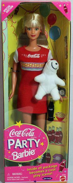 NRFB Mint w//LN box Coca-Cola Party Barbie 1998 22964