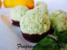 Raw Lemon Basil Coconut Macaroons