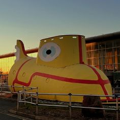 Yellow Submarine at Liverpool John Lennon Airport - Airport Names Honouring the Famous