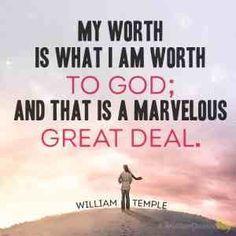 I'm worthy to God