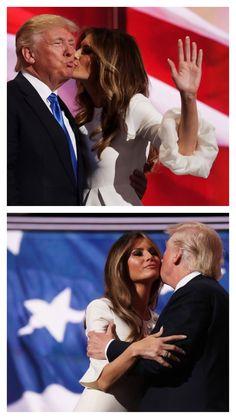President & First Lady Melania Trump, Melania Knauss Trump, First Lady Melania Trump, He's Beautiful, Historical Romance, Our Girl, Donald Trump, Hug, Presidents, Kiss