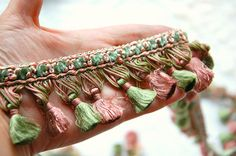 Vintage French tassel trim French passementerie by LaCroixRosion