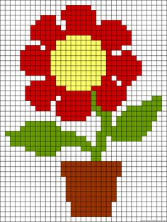 Flower perler bead pattern