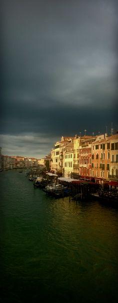 The Grand Canal in Venice from Rialto Bridge