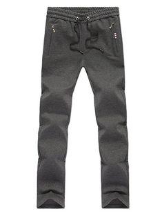 Straight Leg Zipper Pocket Drawstring Pants #women, #men, #hats, #watches, #belts, #fashion, #style