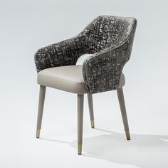 Ten side chair 120 (upholstered leg in leather) - Adriana Hoyos Furnishings Wrought Iron Patio Chairs, Metal Chairs, Cool Chairs, Stylish Chairs, Leather Recliner Chair, Sofa Chair, Upholstered Chairs, Armchair, Sofa Furniture