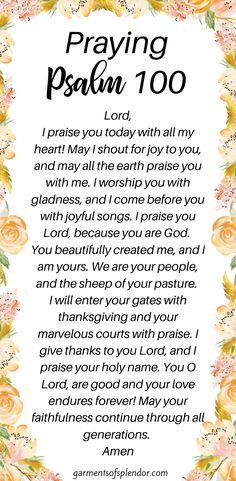Praying Psalm 100 as a Prayer of Praise